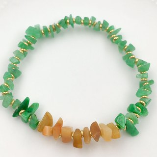 Avocado Fruit Green + Honey Emerald Slice Bracelet (Burma Jade A)
