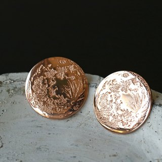 Full Moon Earrings (Strawberry Moon)
