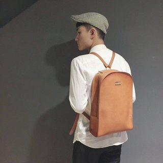 【La Fede】 Vegetable tanned - original series - college backpack - light brown