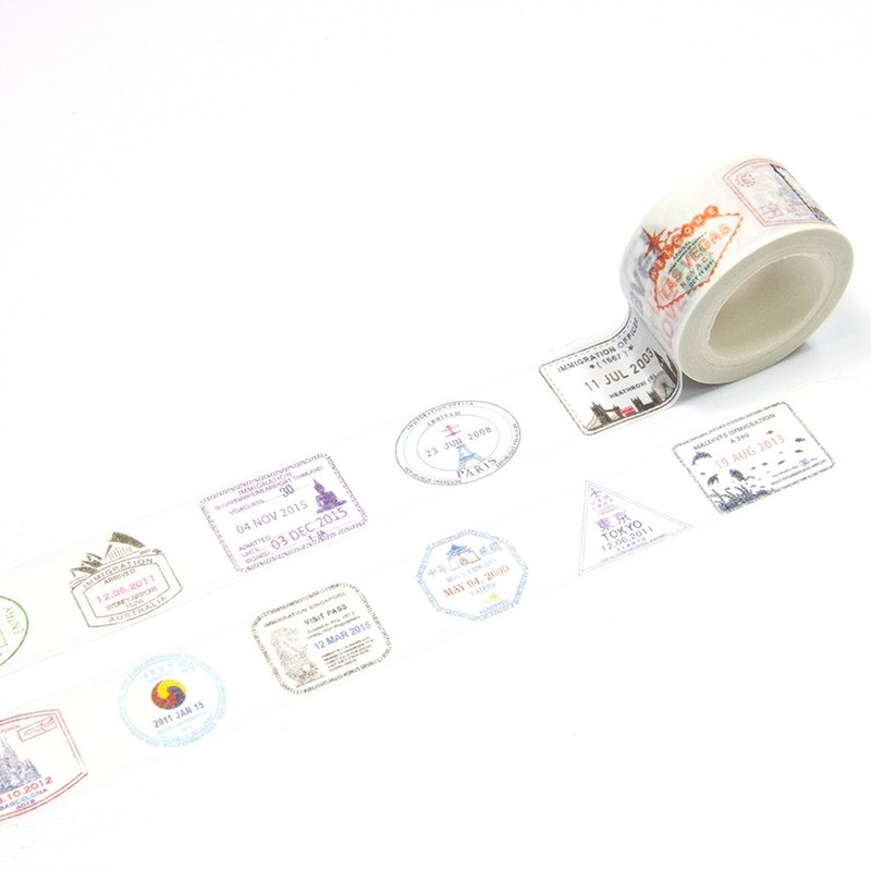 Hong Kong Masking Tape - Passport Stamps (S2016-042)