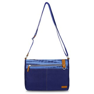 Zhuo also blue dyed - shirt blue series diagonal bag