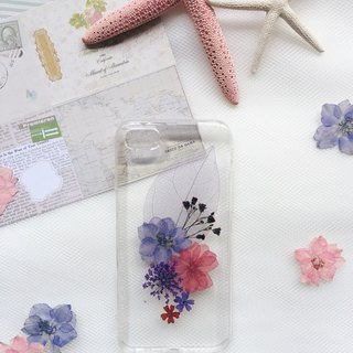萬紫千紅  •  Handpressed Real Dried Flower Phone Case