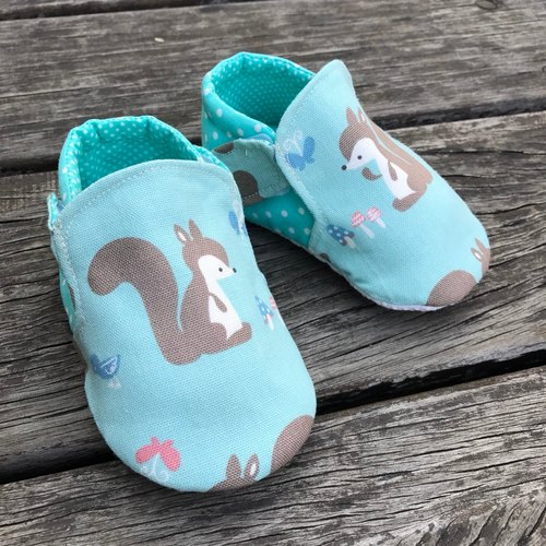 Cute little squirrel school shoes