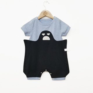 Original design small faint shape baby summer short-sleeved coveralls romper baby personality package fart clothing