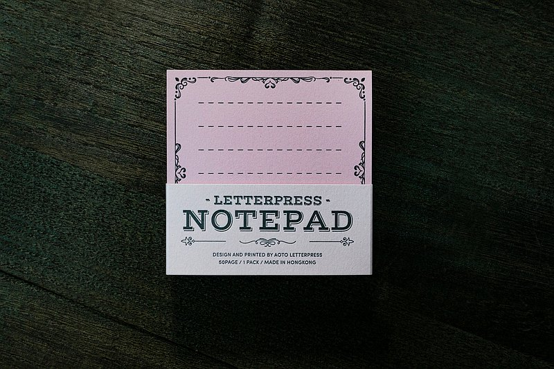 Fun Notepad letterpress printing / note paper / sticky note / pink