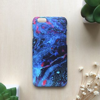 Royal blue Marble painting. Matte Case( iPhone, HTC, Samsung, Sony, LG, OPPO)