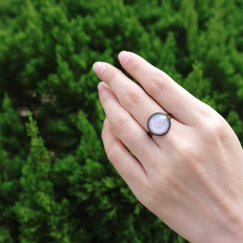 Rings - Lavender / Gift / Souvenir / Time gems / Glass gems