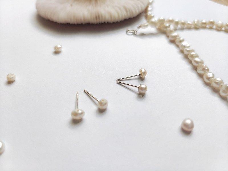 輕珠寶/ LETO 925純銀 巴洛克淡水珍珠耳環 (耳夾)