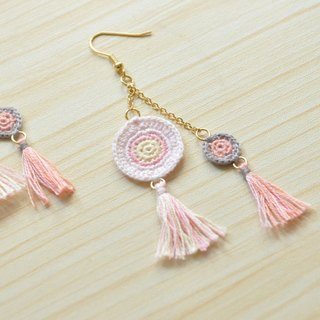 armei《訂製》『幸福年輪』 捕夢網 耳環『Blessed A.Ring』Pastel Dream Catcher Earring