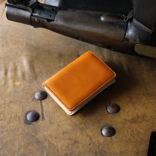 日本製造 栃木皮革製作 牛皮 名片夾 名片盒 褐色 made in JAPAN handmade leather card case