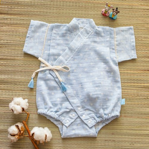 [My little star] staff hand for the sky blue cotton candy organic cotton double yarn is very flat and clothing package fart clothing