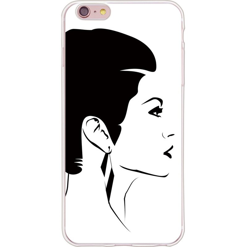 "New Year designers - Retro woman [02] -TPU phone shell ""iPhone / Samsung / HTC / LG / Sony / millet"" *"
