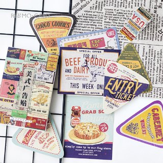 American advertising stickers box retro postcard DIY greeting card gift 30 sheets