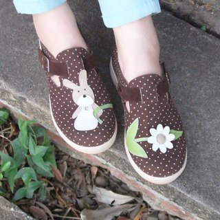 【Nostalgic Bunny】Ultra Light/ Exquisite Hand Sewing/ Leather Cushion/Casual Shoes