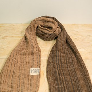 EARTH.er │Natural Dyed Scarf (Brown+Pink)│