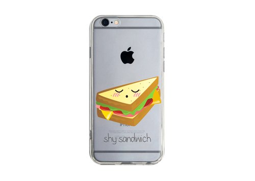 Custom shy sandwiches transparent Samsung S5 S6 S7 note4 note5 iPhone 5 5s 6 6s 6 plus 7 7 plus ASUS HTC m9 Sony LG g4 g5 v10 phone shell mobile phone sets phone shell phonecase