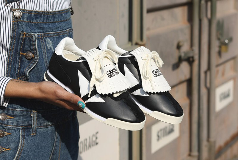 TOUCH GROUND Vintage Corset OG BLACK & OFF WHITE Unisex sneakers P0000BIB