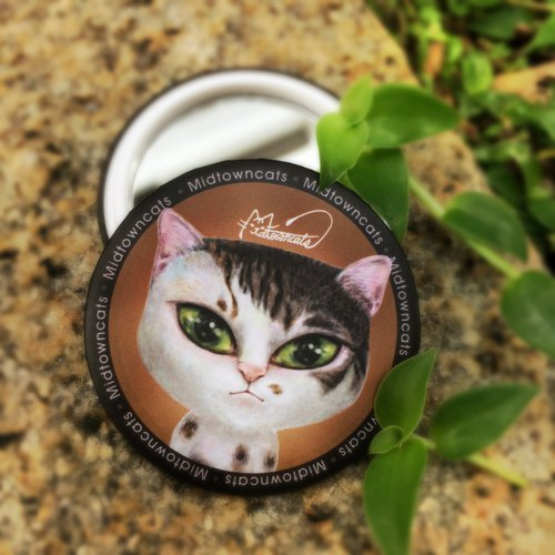 Big cat eye series portable mirror