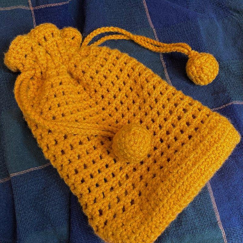花非花霧非霧 - 鏤空編織束口袋