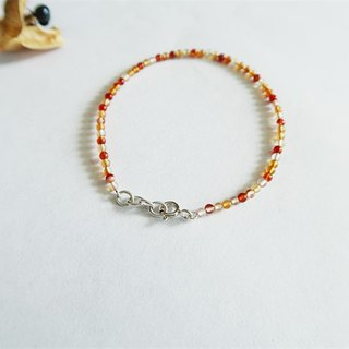 Natural stone・Bracelet Water agate Treasure blood 925 sterling silver【SZB1713】