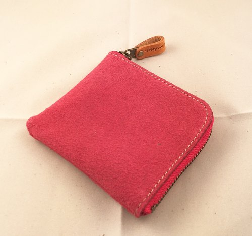 888PK Lファスナー 小銭入れ 折財布 コインケース ポーチ 栃木レザー スエード 革 レザーLzipper coin case wallet coin purse pouch Tochigi leather suede leather TOCHIGI leather 把 L zip / 投幣式案例 / 錢包 / 零錢包 / 袋 / 栃木皮革 / 絨面皮革 / 皮革