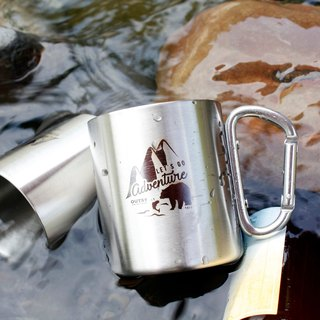 Wilderness grizzly double insulated stainless steel cup glacial silver