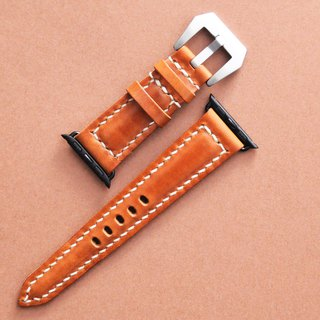 Apple Watch 38mm strap with good stitching leather material bag handmade bag Italian vegetable tanned leather