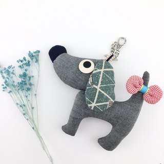 Wang ~ bag charm / decoration with a bow tied at the tail