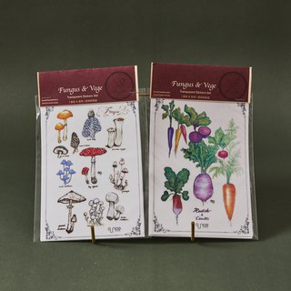 Fungus & Vege Transparent Stickers
