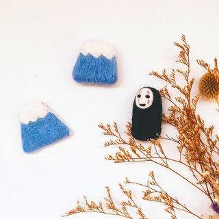 Mount Fuji wool felt pins