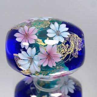 Sakura's Dragonfly Ball Glass Jar with gold leaf
