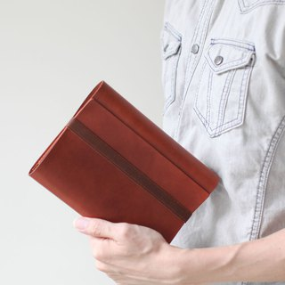 A6 brown refillable leather journal/notebook