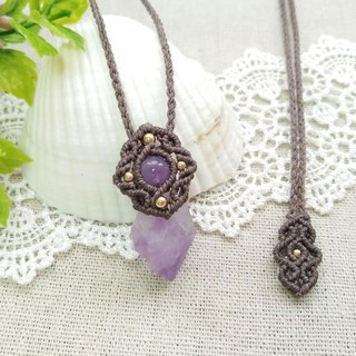 BUHO hand-made. Style original ore. Amethyst X South American Brasil Necklace