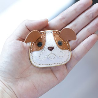 澎澎舒压English Bulldog Handmade Leather Pins