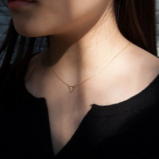 Delicate simple triangular necklace - sterling silver / rose gold / 18K gold
