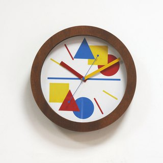 Three primary colors of the time wall-hanging timepieces