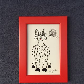 Q Family Wildlife + frame alpaca