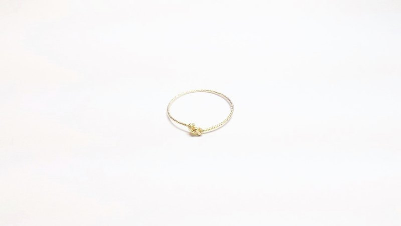:: Classic Touch Line Ring Series:: Basic US 14KKGF Glimmer Single Knot Ring