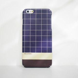 GRAPHIC PRINT - NAVY GRID iPhone 8 Case