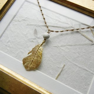 *coucoubird*Brass Feather Necklace
