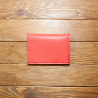 Dreamstation leather Pao Institute, vegetable tanned leather business card holder, documents folder, card holder