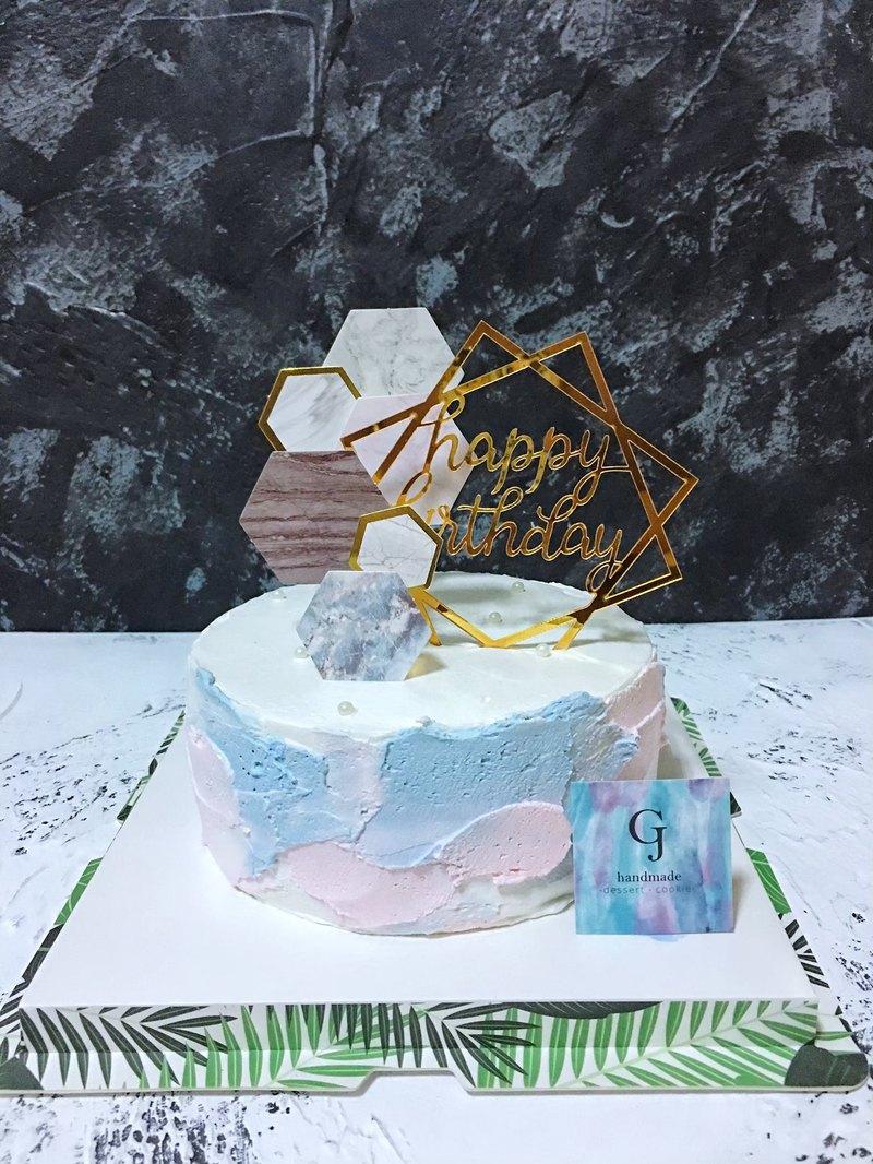 曾幾何蒔 生日蛋糕 客製蛋糕  6 8吋 限台南面交