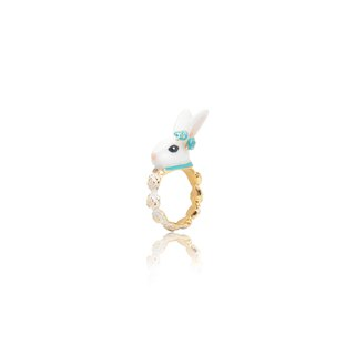Miss Alice ring blue bow