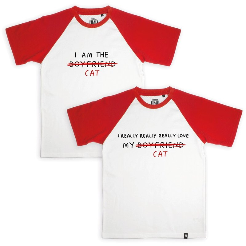 AMO®Original canned cotton Couple T-shirt/AKE/I REALLY REALLY LOVE CAT