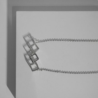 925 Sterling Sliver Cubic Cube Necklace Valentine's Day Gift
