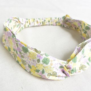 Loose hair band - yellow floral