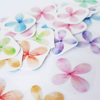 Flowers are all open transparent stickers