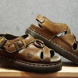 Tsubasa.Y 古著屋 茶色 001金屬環馬汀涼鞋,Dr.Martens England