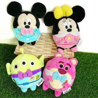 Disney Disney 10 Minutes Plush Dolls - Mickey Minnies Bear Holder Three Eyes Round Roller Series Doll Toy Doll Charm