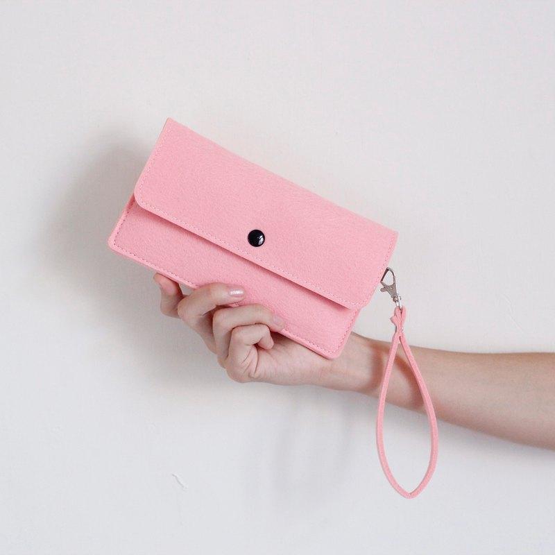 簡約羊毛手機/附腕帶- sakura pink 櫻花粉 (6吋手機可用